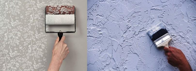 Каталог обоев под покраску в Леруа Мерлен (фото и цены)